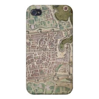 「Civitates Orbis Terrarum」からのパレルモの地図、 iPhone 4/4Sケース