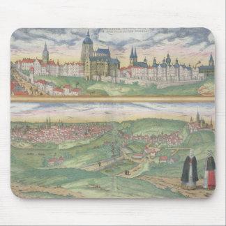 「Civitates Orbis Terrarum」からのプラハの地図、 マウスパッド