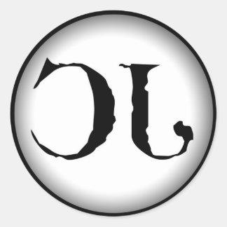 CJのロゴのステッカー ラウンドシール