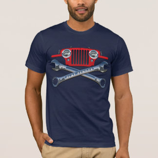 CJ2Aのすてきで赤く平らなフェンダー Tシャツ
