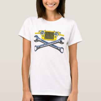 CJ2Aのすてきで黄色く平らなフェンダー Tシャツ