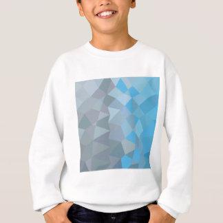 Clair de Lune Greyの抽象的で低い多角形の背景 スウェットシャツ