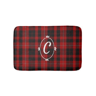 Clan Cunningham Plaid Monogrammed Bath Mat バスマット