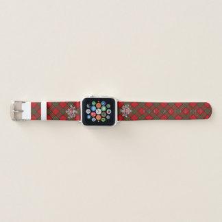 Clan Stewart Tartan & Scottish Thistle #2 Apple Watchバンド