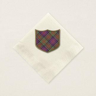 Clanranalldの格子縞のスコットランド人のタータンチェックのMacdonald 縁ありカクテルナプキン