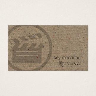 Clapperboard映画監督アイコンフィルムの写真撮影 名刺