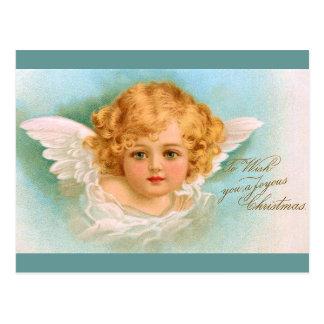 Clapsaddle: チャーミングなクリスマスの天使 ポストカード