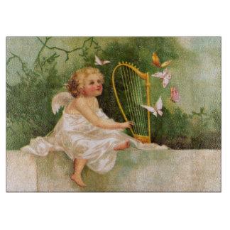 Clapsaddle: ハープを演奏する天使 カッティングボード