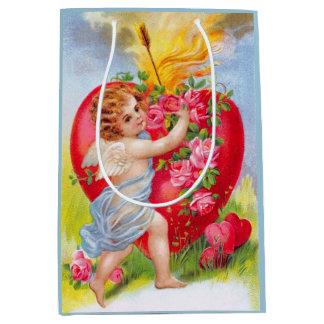 Clapsaddle: 愛の天使 ミディアムペーパーバッグ
