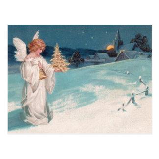 Clapsaddle: 鐘とのクリスマスの天使 はがき