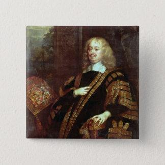 Clarendonの伯爵、High Chancellor主 5.1cm 正方形バッジ