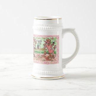 Claretのフレンドリーなガラス ビールジョッキ