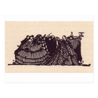 Clarkeのエドガー・アラン・ポーのイラストレーション ポストカード