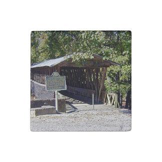 Clarkson–Legg Covered Bridge Primed Marble Magnet ストーンマグネット