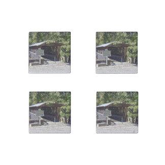 Clarkson–Legg Covered Bridge Primed Marble Magnets ストーンマグネット