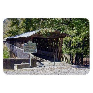 """ClarksonLeggの屋根付橋4"""" x 6""""写真の磁石 マグネット"""