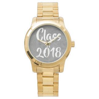 Class of 2017 Black White Chalkboard Typography 腕時計