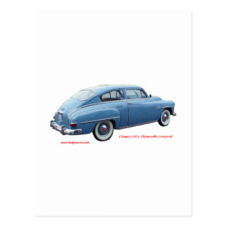 Classic_1951_Plymouth_Concord_Texturized はがき