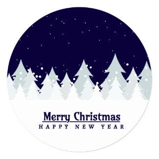 Classic & elegant winter pines customizable color カード