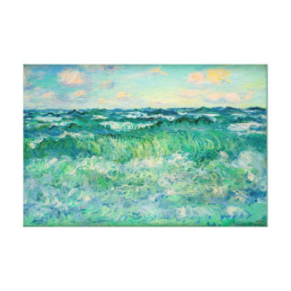 "Claude Monet Marine Pourville France  17X11.25"" キャンバスプリント"