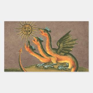 Clavis Artisの錬金術のドラゴンの革 長方形シール
