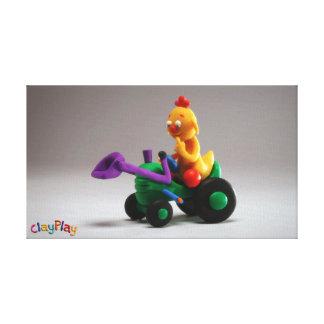 ClayPlayのトラクターの報酬のキャンバスプリント キャンバスプリント