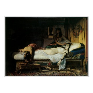 Cleopatra、1874年のジーンアンドレの死Rixens ポスター