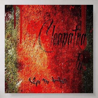 Cleopatra ID独身のな衝突アルバムキャンバスのプリント ポスター