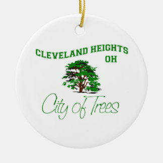 Cleveland Heights、オハイオ州-木の都市 セラミックオーナメント