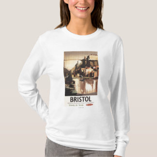 Cliftonの吊り橋およびボート Tシャツ