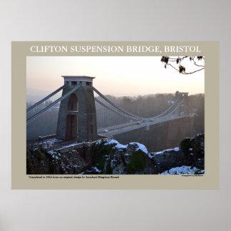Cliftonの吊り橋、ブリストル ポスター