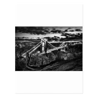 Clifton橋BW ポストカード