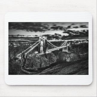 Clifton橋BW マウスパッド