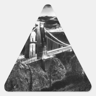 Clifton橋BW 三角形シール