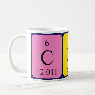 Clioの周期表の名前のマグ コーヒーマグカップ