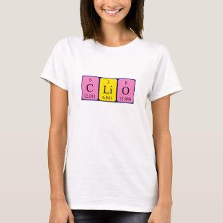 Clioの周期表の名前のワイシャツ Tシャツ