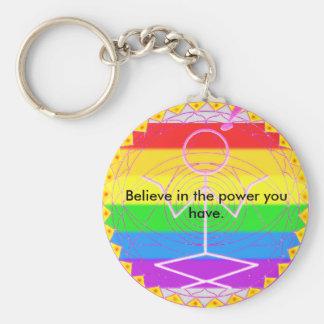 Clioの虹の曼荼羅Keychain キーホルダー