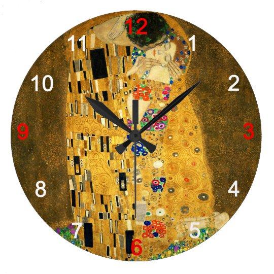 "Clock of ""The Kiss"" ラージ壁時計"
