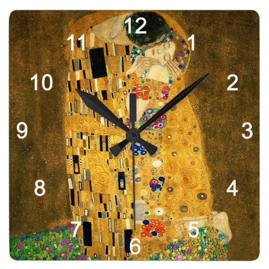"Clock of ""The Kiss"",No.02 スクエア壁時計"