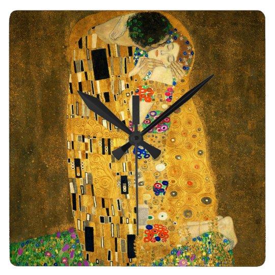 "Clock of ""The Kiss"",No.03 スクエア壁時計"