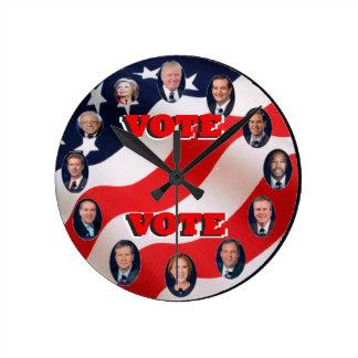 Clock_Vote_2016 ラウンド壁時計
