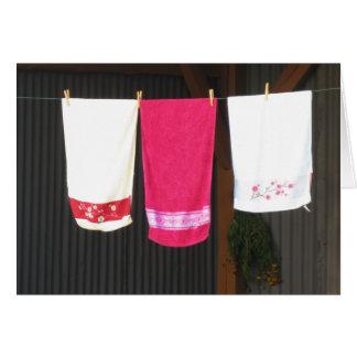 Clotheslineのタオル カード
