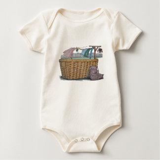 Clotheslineの洗濯 ベビーボディスーツ