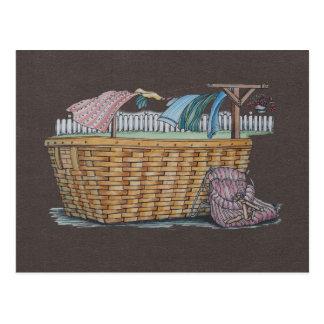 Clotheslineの洗濯 ポストカード