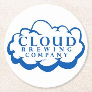 Cloud Brewing Companyのロゴのコースター ラウンドペーパーコースター
