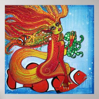 Clownfishの人魚ポスター ポスター