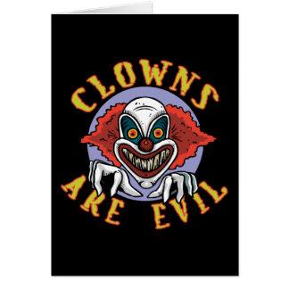 Clowsは邪悪なメッセージカードです カード