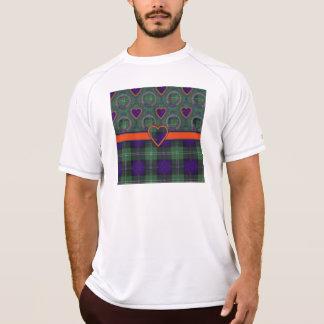 Clyneの一族の格子縞のスコットランドのキルトのタータンチェック Tシャツ