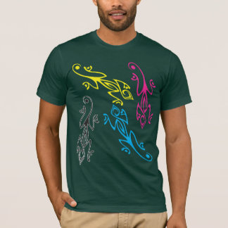 CMYKのトカゲ Tシャツ