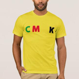 CMYKのワイシャツ-おもしろいな黄色文字 Tシャツ